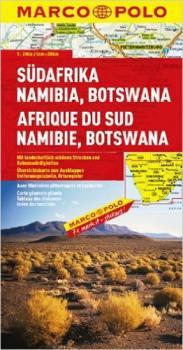 Jižní Afrika, Namibie, Botswana/mapa