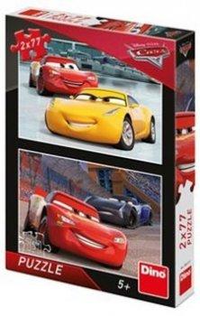 Puzzle Auta Závodníci 2x77 dílků