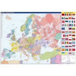 Evropa - nástěnná administrativní mapa 1:4 mil./136x96 cm
