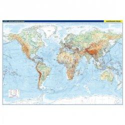 Svět - nástěnná obecně zeměpisná mapa 1:22 mil./136x96 cm
