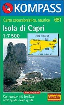 Isola di Capri 681 - mapa 1:7 500