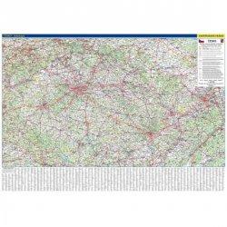 Česká republika - nástěnná automapa 1:360 tis./136x97 cm