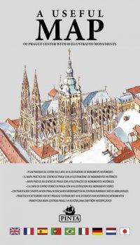 A USEFUL MAP - Praktická mapa centra Prahy s 69 ilustracemi historických památek (stříbrná)