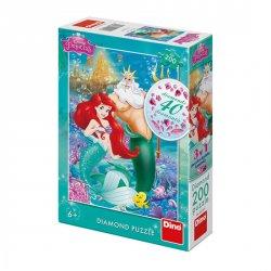 Disney princezny - Ariel: diamond puzzle 200 dílků