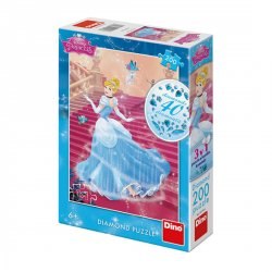 Disney Princezny - Popelka na schodech: diamond puzzle 200 dílků
