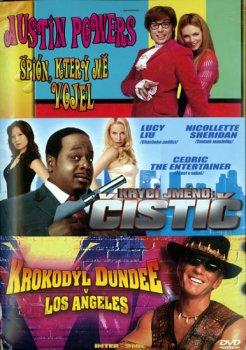Austin Powers 2 + Krycí jméno Čistič + Krokodýl Dundee 3DVD