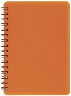 Plastic blok NEON oranžový A6, linka, 60 listů