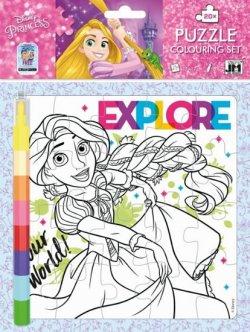 Princezny - Omalovánkové puzzle