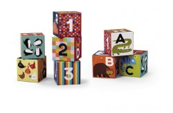 Jumbo kostky: Animals/Zvířata a čísla (9 ks)