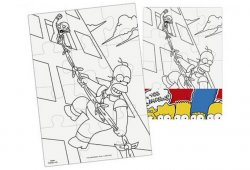 The Simpsons - Vymaluj si obdélník Puzzle