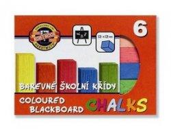 Souprava křídy školní barevené 6 ks