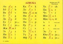 Azbuka - Ruský jazyk pro ZŠ (tabulka A6, azbuka, číslovky, dny v týdnu)