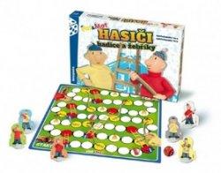 Společenská hra v krabici Hasiči hadice a žebříky Pat a Mat
