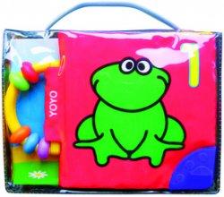Látková kniha s chrastítkem Žabka