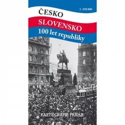 Česko Slovensko 100 let republiky 1:950 000