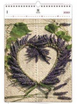 Luxusní dřevěný obrazový kalendář Heart