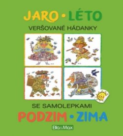 JARO, LÉTO, PODZIM, ZIMA - Kniha samolepek a hádanek