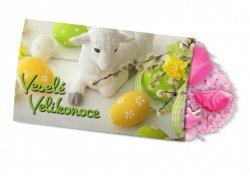 Pohled s dárkem : Velikonoce/Beránek