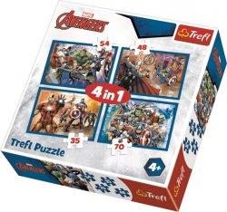Puzzle Avengers: Jsme tým 4v1 (35,48,54,70 dílků)