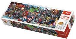 Panoramatické puzzle Svět Marvelu 1000 dílků