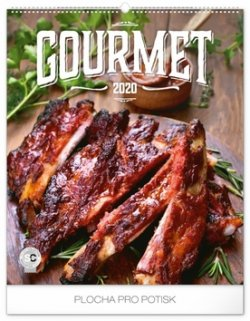 Kalendář nástěnný 2020 - Gourmet, 48 × 56 cm