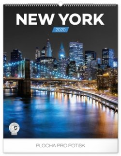 Kalendář nástěnný 2020 - New York, 48 × 56 cm