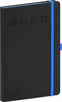 Týdenní diář Nox 2020, černý-modrý 15 ×