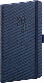 Kapesní diář Diamante 2020, modrý, 9 × 1