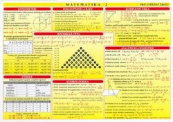 Matematika 2 - Matematická tabulka pro SŠ (A4)