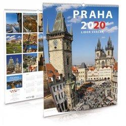 Kalendář 2020 - Praha - nástěnný