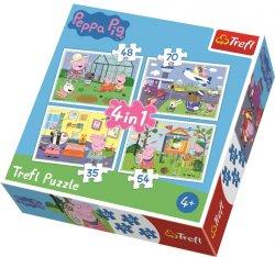 Puzzle Prasátko Peppa 4v1 (35,48,54,70 dílků)