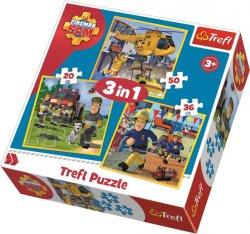 Puzzle Požárník Sam 3v1 (20,36,50 dílků)