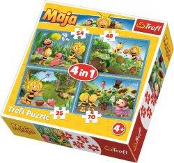Puzzle Včelka Mája 4v1 (35,48,54,70 dílků)