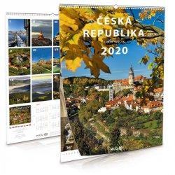 Kalendář 2020 - Česká republika - nástěnný