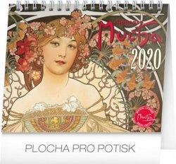 Kalendář stolní 2020 - Alfons Mucha, 16,5 × 13 cm