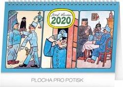 Kalendář stolní 2020 - Josef Lada – Švejk, 23,1 × 14,5 cm