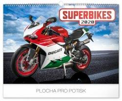 Kalendář nástěnný 2020 - Superbikes, 48 × 33 cm