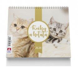 Kočky a koťata - stolní kalendář 2020