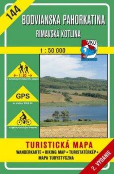 Bodvianska Pahorkatina Rimavská kotlina 1:50 000