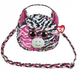 TY Fashion Sequins kabelka s otočnými flitry ZOEY - zebra
