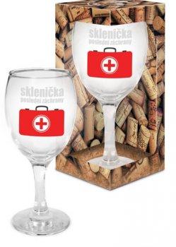 Sklenička na víno Sklenička poslední záchrany