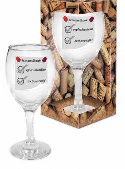 Sklenička na víno Seznam úkolů
