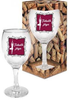 Sklenička na víno Tekutá jóga