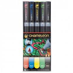 Set Chameleon tónovací fixy, 5ks - základní tóny
