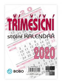 Tříměsíční kalendář - nástěnný kalendář 2020