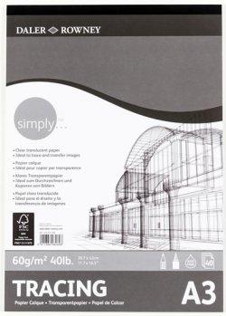 Daler - Rowney SIMPLY skicák Tracing A3, 60 g / m2, 40 listů