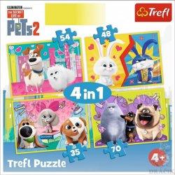 Tajný život mazlíčků 2: Puzzle/4v1 (35,48,54,70 dílků)