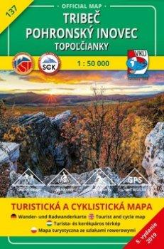 Tribeč Pohronský Inovec Topoľčianky 1:50 000