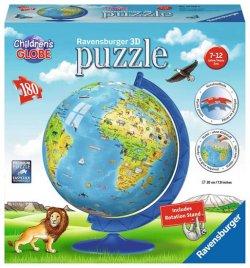 Puzzle - Dětský globus 180 dílků