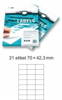 Etikety EUROLABELS - 21 etiket na A4 (100 ks), 140g
